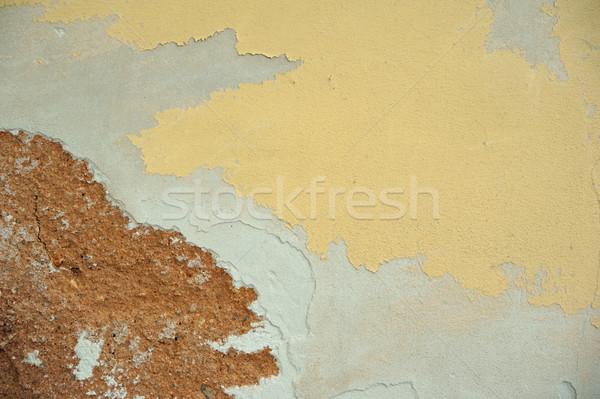 Descascado pintar bom colorido velho marrom Foto stock © ondrej83