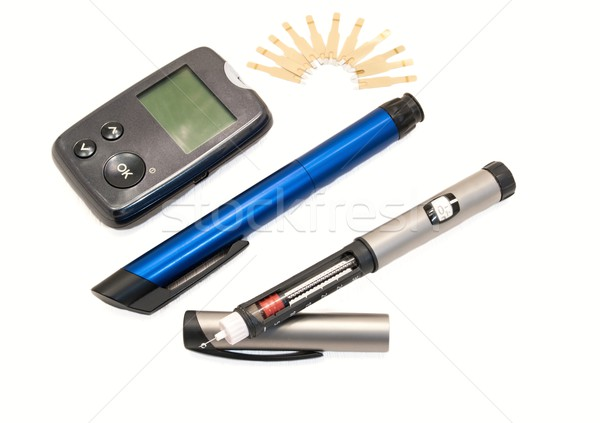 Insulin pens and glucometer Stock photo © ondrej83