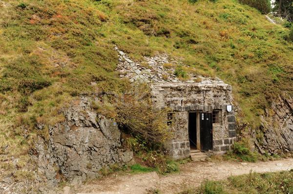 Bunker built in the rock Stock photo © ondrej83