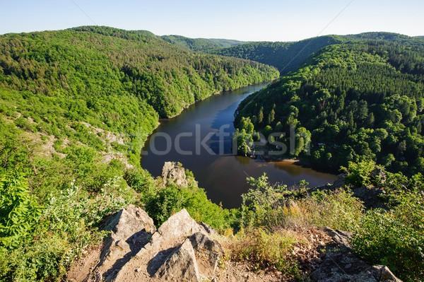View fiume foresta natura panorama montagna Foto d'archivio © ondrej83