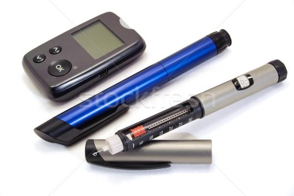 Insulina pen clean bianco sfondo farmacia Foto d'archivio © ondrej83