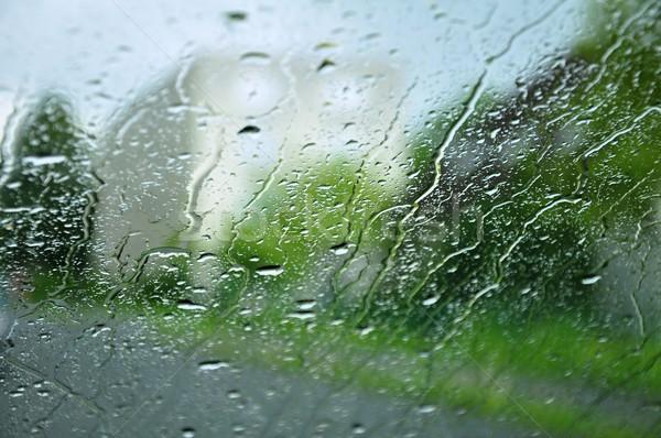 Regendruppels venster regen druppels textuur Stockfoto © ondrej83