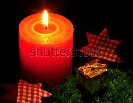 Christmas candle Stock photo © ondrej83