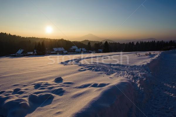 冬 パノラマ チェコ語 スイス 雪 霜 ストックフォト © ondrej83