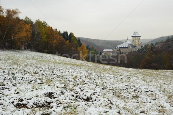 Stok fotoğraf: Kış · kale · görmek · manzara · seyahat · ülke