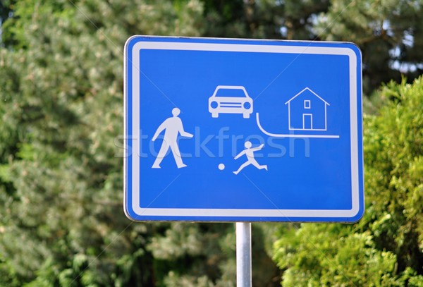Road sign pedestrian zone Stock photo © ondrej83