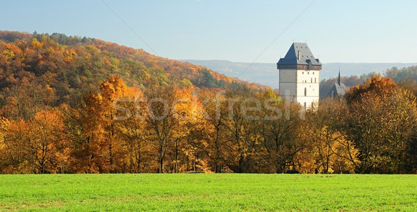 Château automne vue ciel mur pierre Photo stock © ondrej83