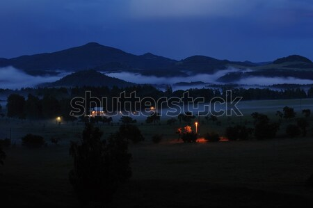 チェコ語 スイス 1泊 霧 満月 ツリー ストックフォト © ondrej83