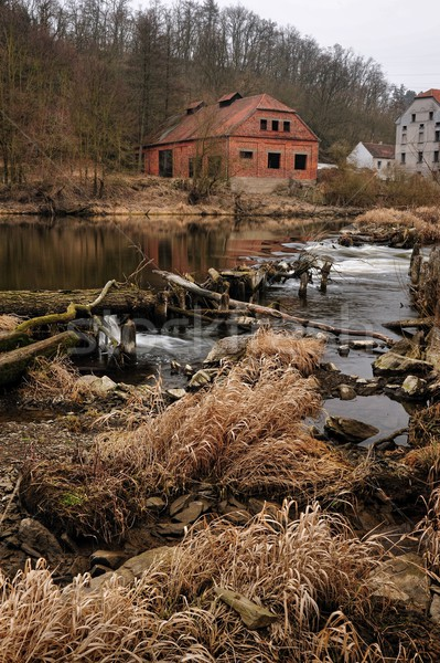 An old house on the river Stock photo © ondrej83