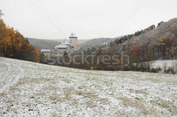 冬 城 表示 風景 旅行 国 ストックフォト © ondrej83