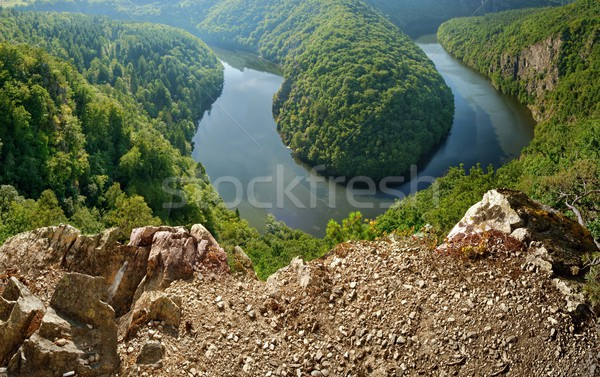 Viewpoint of the Vltava river Stock photo © ondrej83