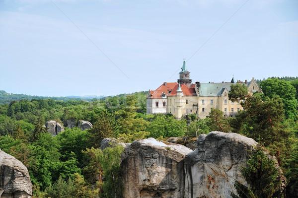 красивой замок высокий утес Чешская республика Сток-фото © ondrej83