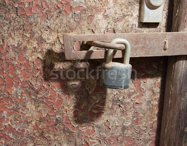 Old door and lock Stock photo © ondrej83