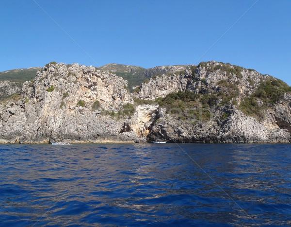 岩 太陽 海岸 美しい 海 ストックフォト © ondrej83