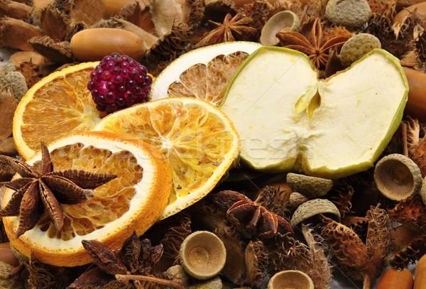 осень украшения фрукты украшение сушат коричневый Сток-фото © ondrej83