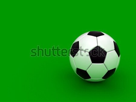 Soccer ball on the green background Stock photo © oneo