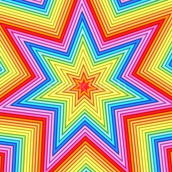 Star vorm kleurrijk metalen pijpen hoog Stockfoto © oneo
