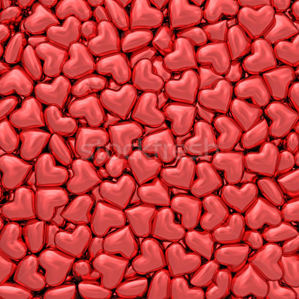 Background composed of many small red hearts Stock photo © oneo