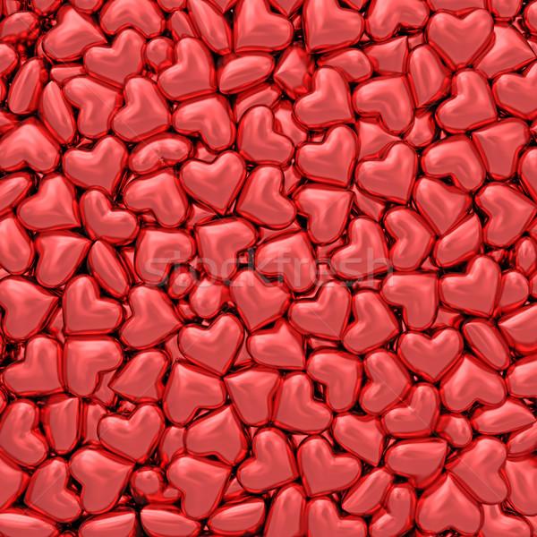Veel klein Rood harten hoog Stockfoto © oneo