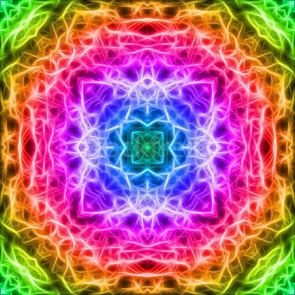 Coloré fractal mosaïque élevé résolution résumé Photo stock © oneo
