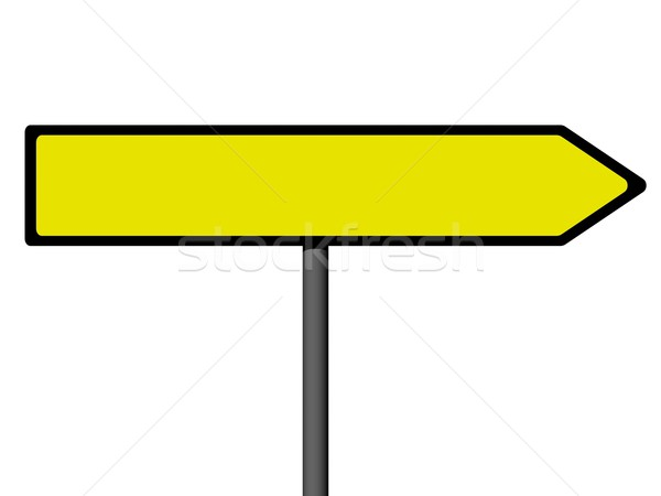 Direction signes blanche rue signe autoroute Photo stock © oneo