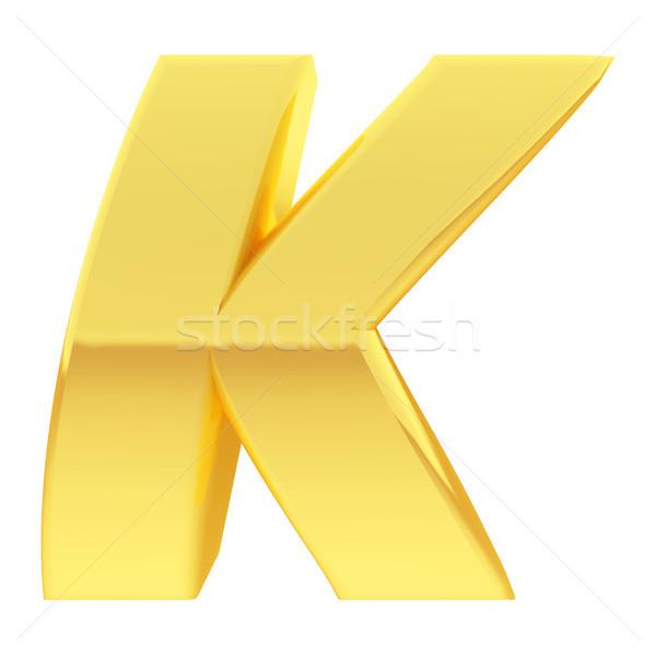 Arany ábécé szimbólum levél gradiens tükröződések Stock fotó © oneo