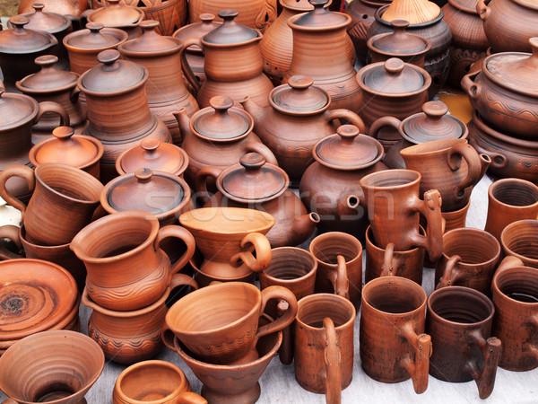 Céramique poterie bord de la route marché Photo stock © oneo