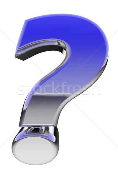 хром вопросительный знак цвета градиент Размышления изолированный Сток-фото © oneo