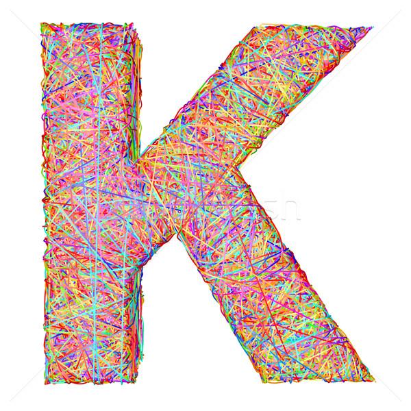 ábécé szimbólum levél színes izolált fehér Stock fotó © oneo