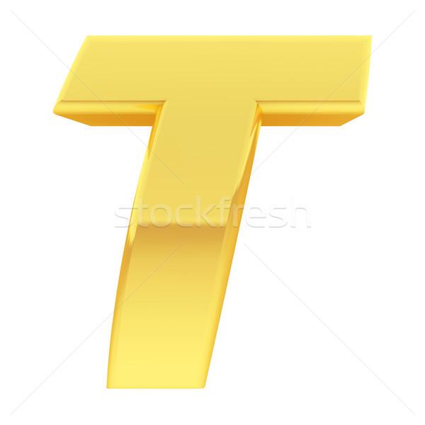 Ouro alfabeto símbolo letra t gradiente reflexões Foto stock © oneo