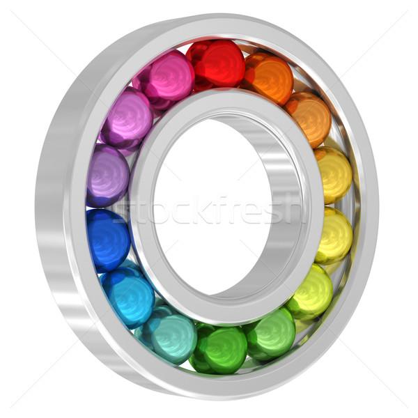 Coloré isolé blanche élevé résolution Photo stock © oneo