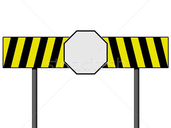 Vide jaune noir lignes isolé Photo stock © oneo