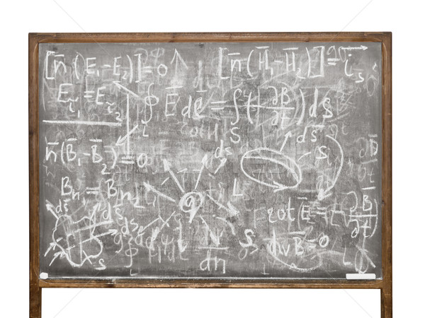 Equations on the old style blackboard Stock photo © oneo