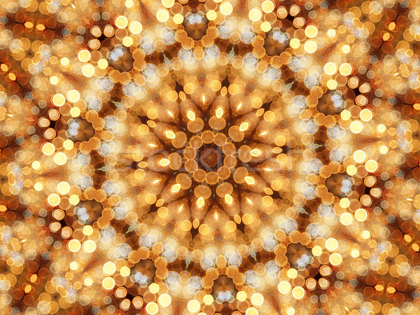 Mosaic kaleidoscope of circular lights Stock photo © oneo