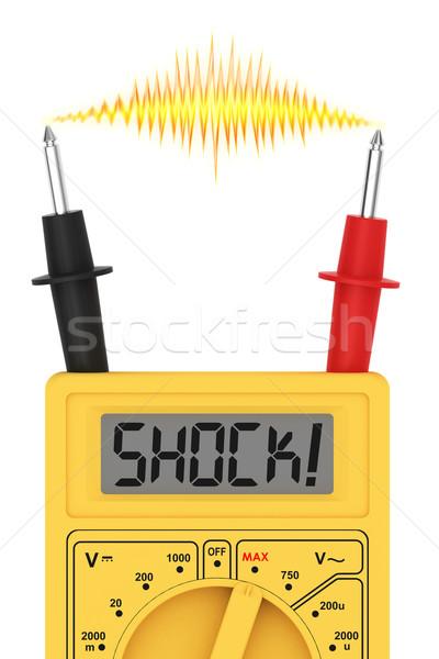 Dijital şok kelime göstermek elektrik flaş Stok fotoğraf © oneo