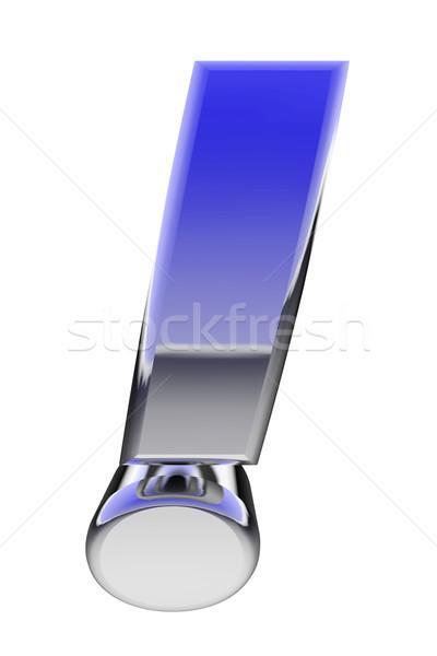 Krom ünlem işareti renk eğim yansımalar yalıtılmış Stok fotoğraf © oneo
