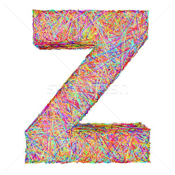 алфавит символ письмо z красочный изолированный белый Сток-фото © oneo
