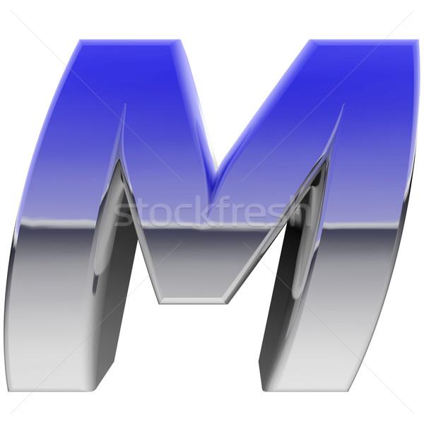 хром алфавит символ буква М цвета градиент Сток-фото © oneo