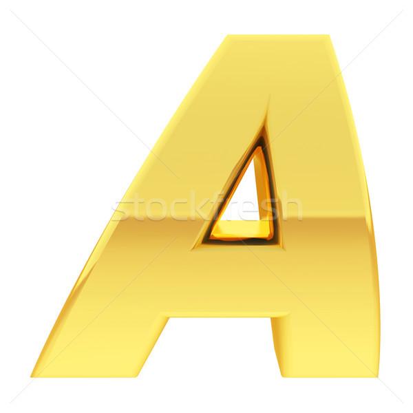 Or alphabet symbole lettre gradient réflexions Photo stock © oneo