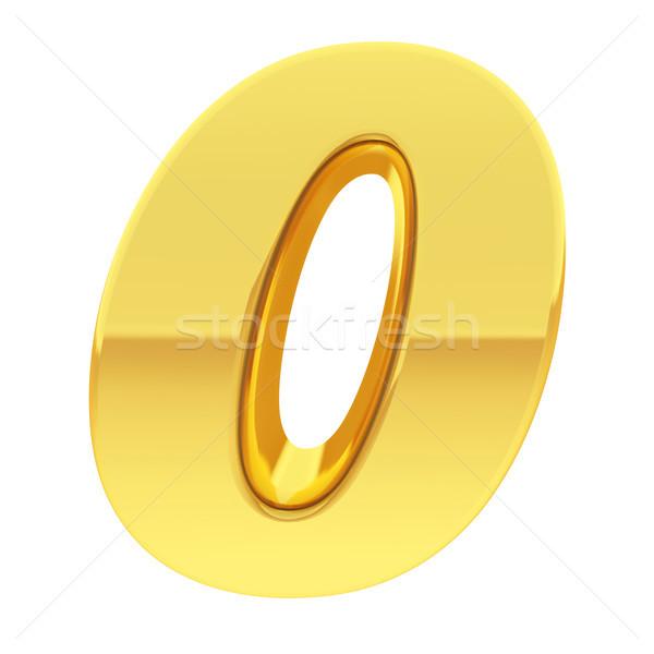 Oro numero gradiente riflessioni isolato bianco Foto d'archivio © oneo