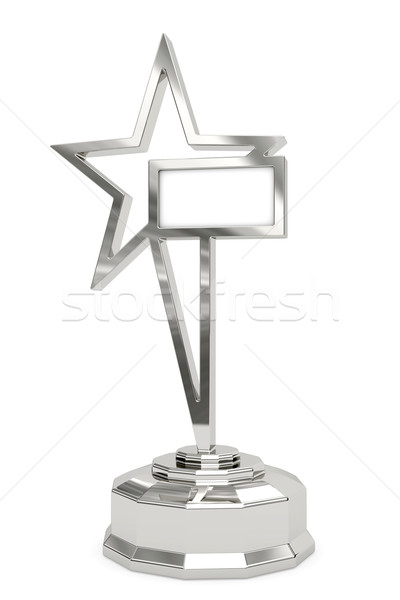 Silver star prize on pedestal Stock photo © oneo
