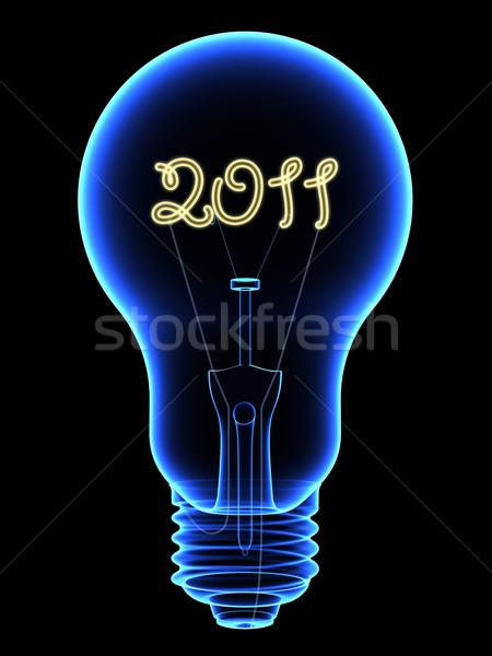 Xray żarówka 2011 cyfry wewnątrz Zdjęcia stock © oneo