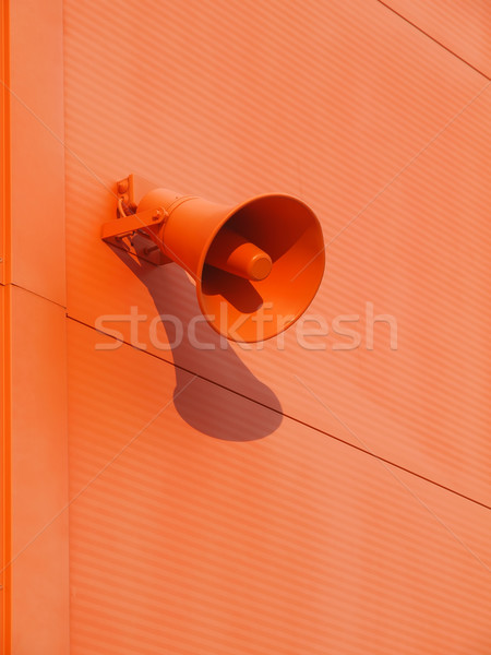Loudspeaker on the wall Stock photo © oneo
