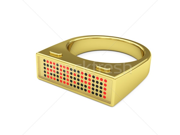 Golden ring with electronic led watch Stock photo © oneo