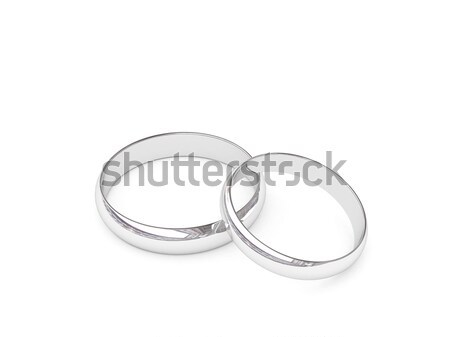 Platinum or silver wedding rings Stock photo © oneo