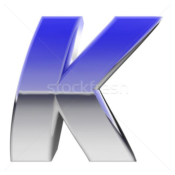 Chrome alphabet symbole lettre couleur gradient Photo stock © oneo