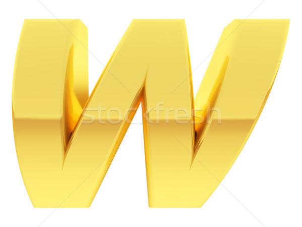 Złota alfabet symbol list w gradient Zdjęcia stock © oneo