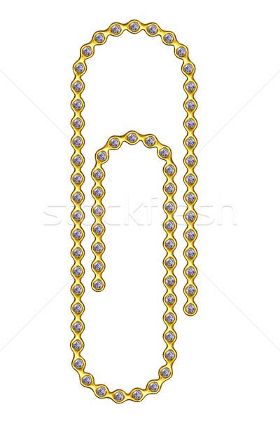 Diamanti isolato bianco alto Foto d'archivio © oneo