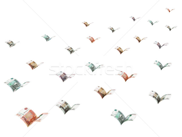 Winged ruble banknotes are flying away Stock photo © oneo