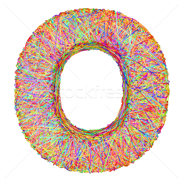 Alphabet symbol letter O composed of colorful striplines Stock photo © oneo